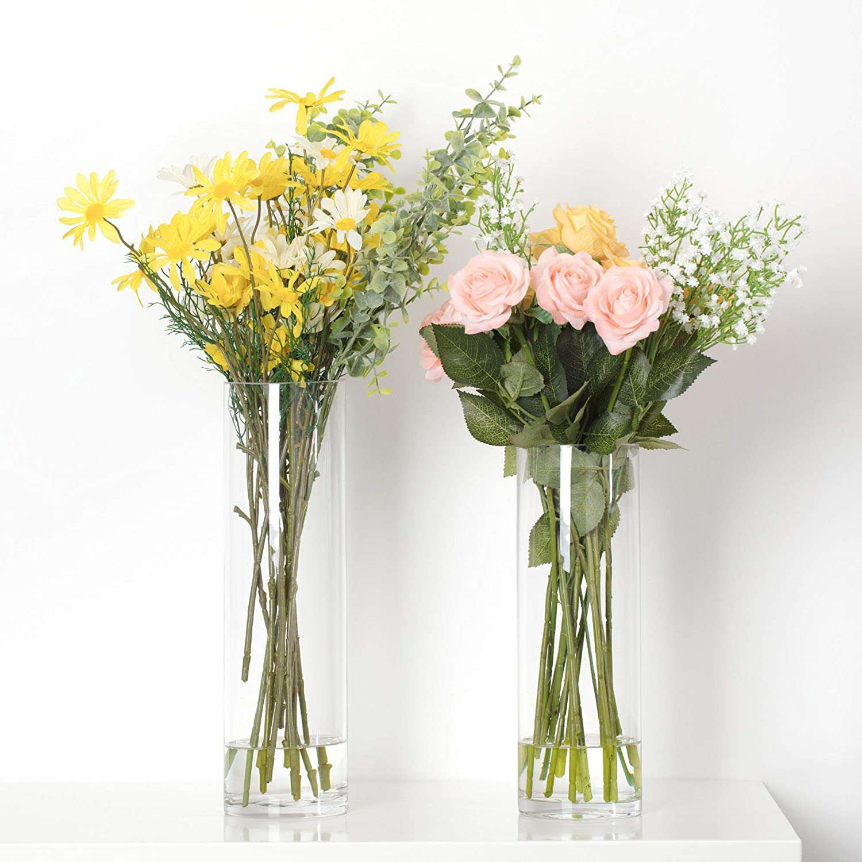 WGVI Cylinder Clear Glass Vase
