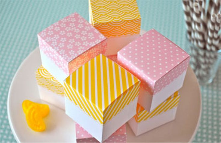 Free, Printable Wedding Favor Boxes