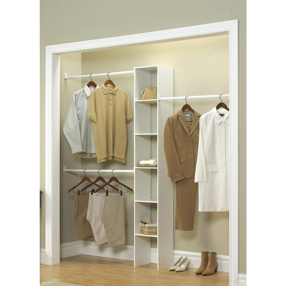 Best Budget Closetmaid White Custom Laminate Closet System Organizer