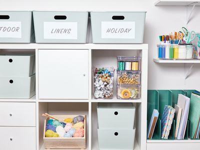 Organized plastic storage containers