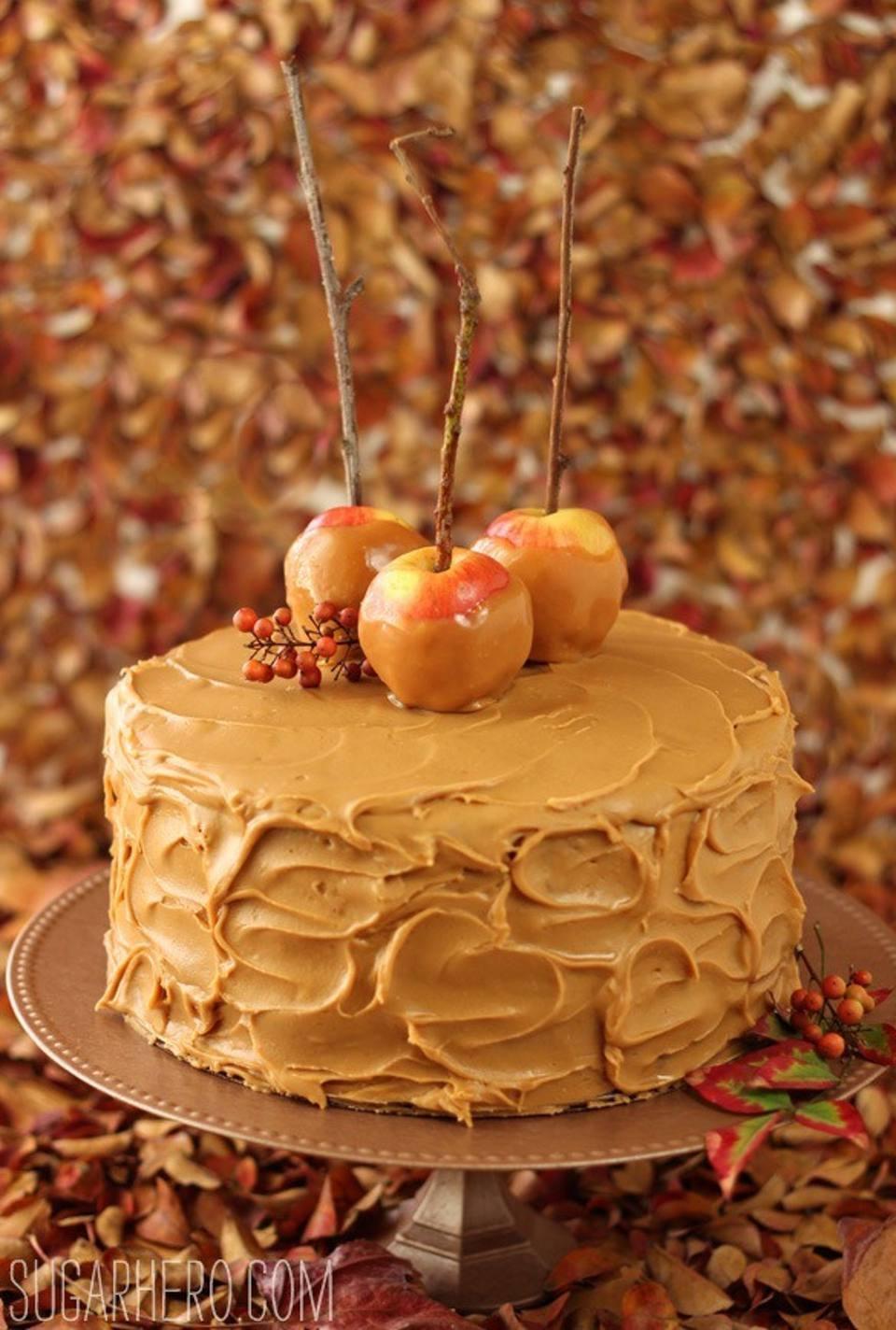 Sugarhero Caramel Apple Cake Salted Buttercream