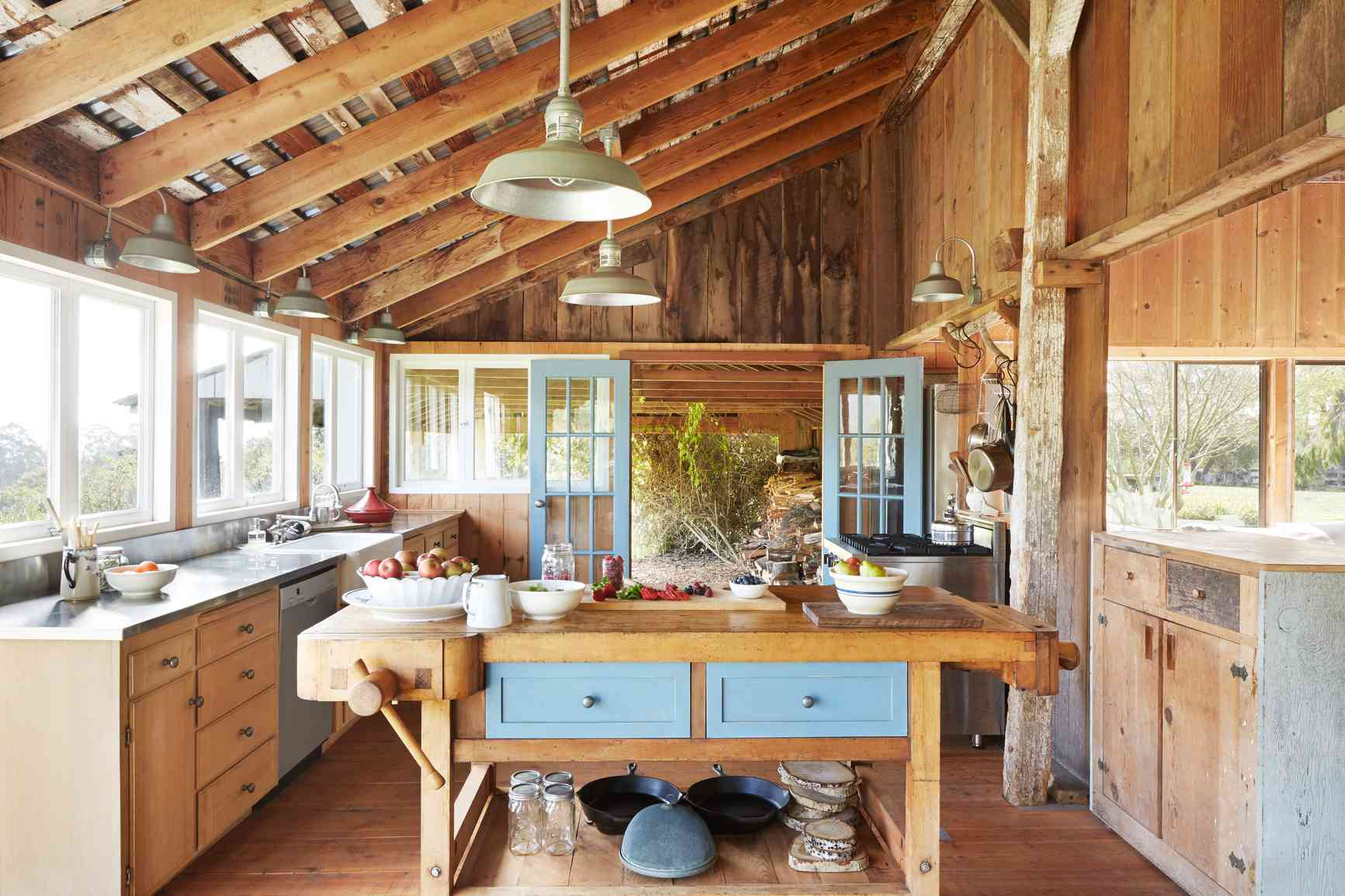 natural kitchen with wooden details