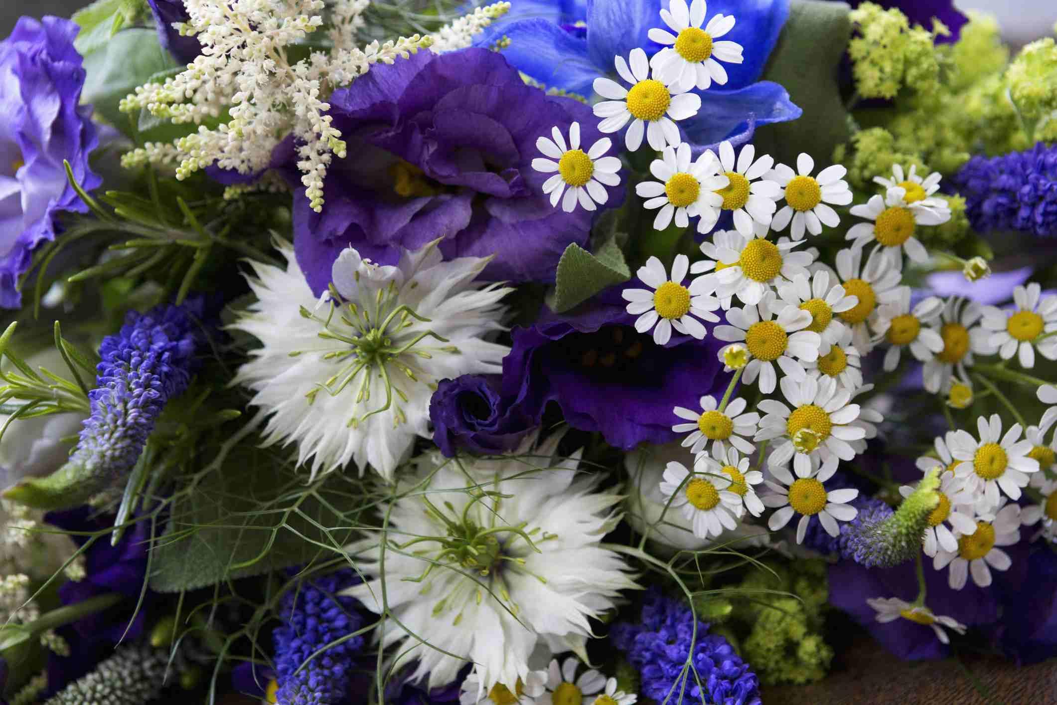 Blue bridal bouquets izmirmasajfo