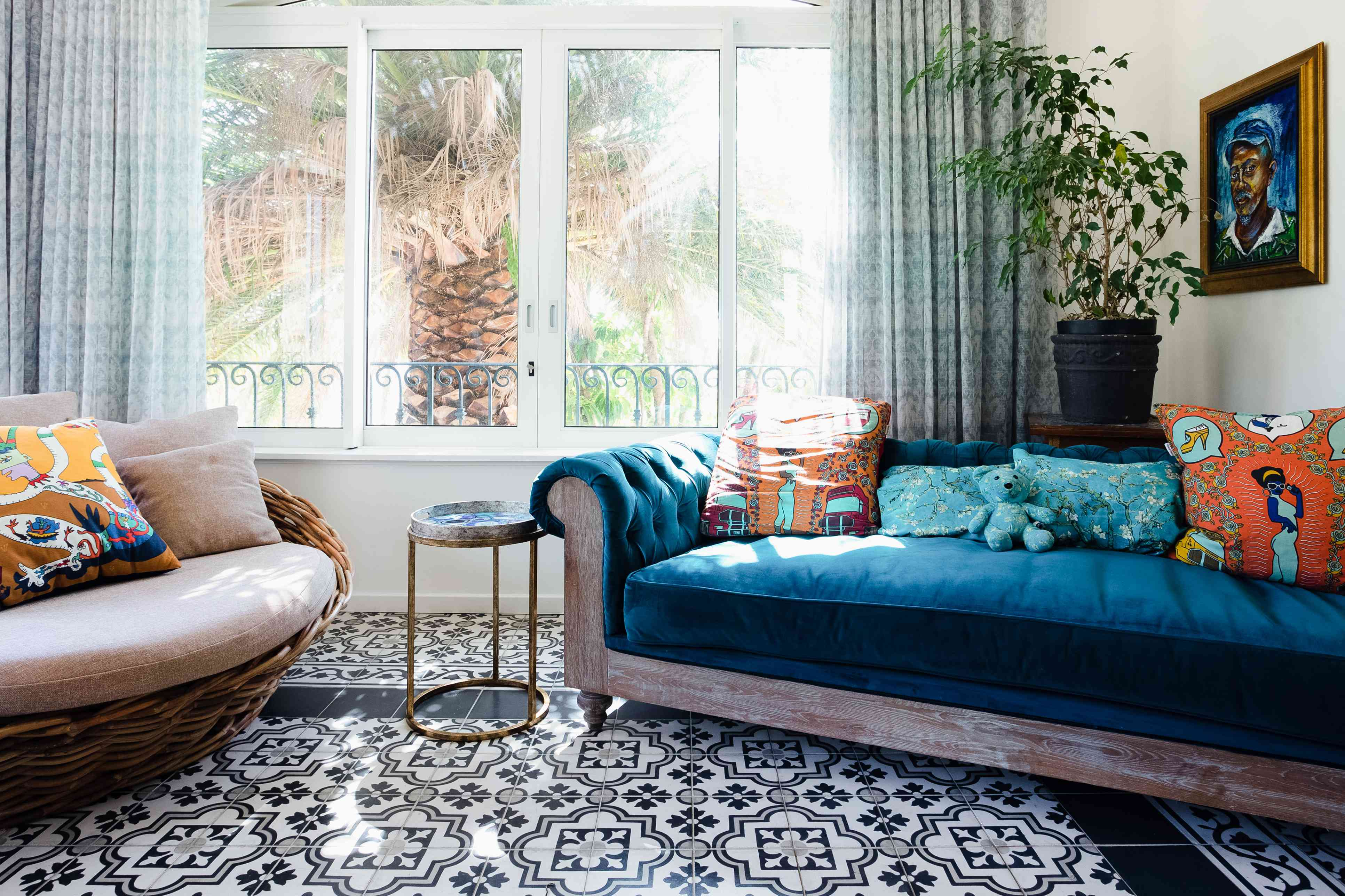 bright colors and multiple patterns are elements of maximalism