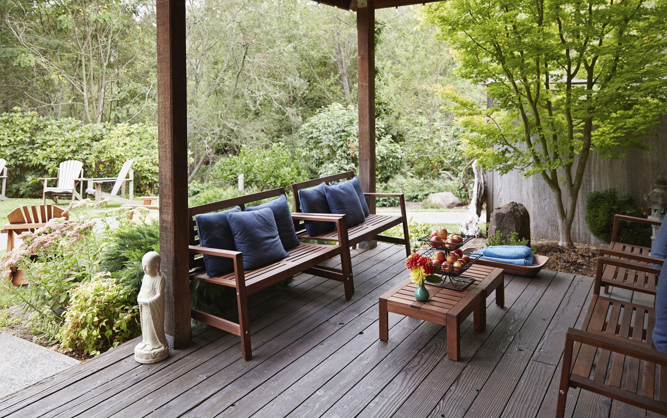 Muebles de patio de madera