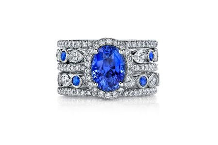 Diamond And Blue Sapphire Enement Rings | Sapphire Engagement Rings For Every Budget