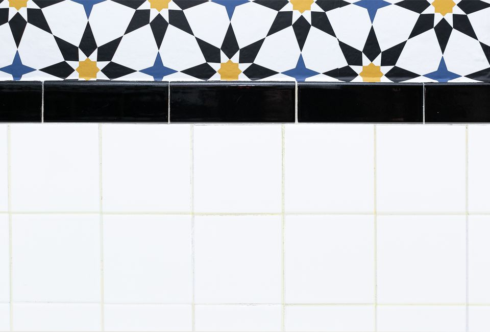 tile grout in a bathroom