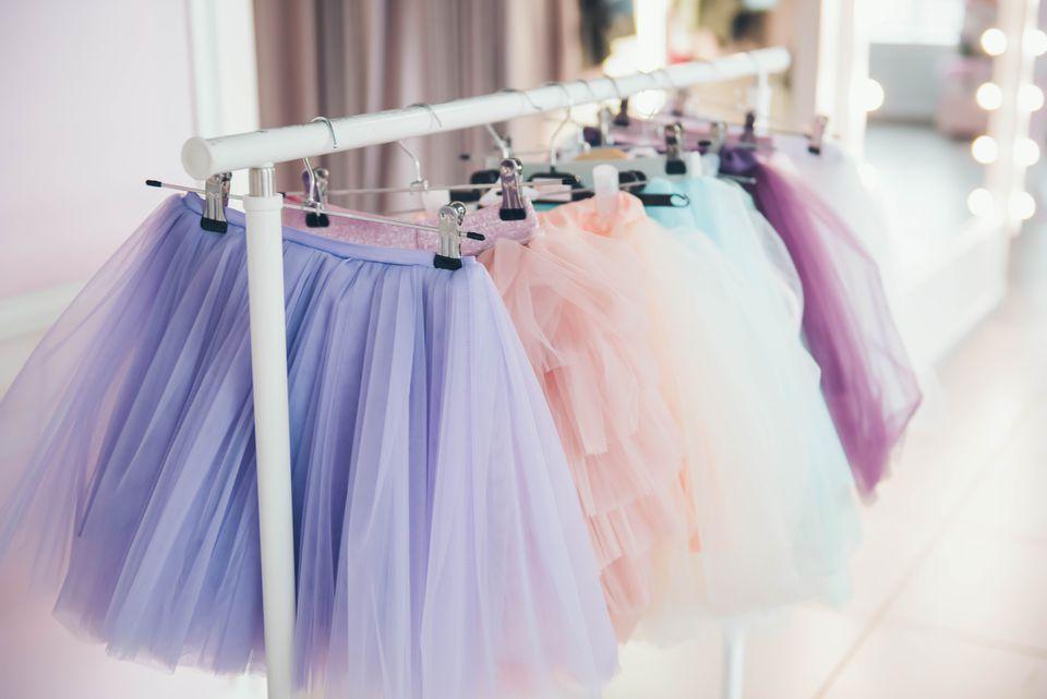 different colored tutus