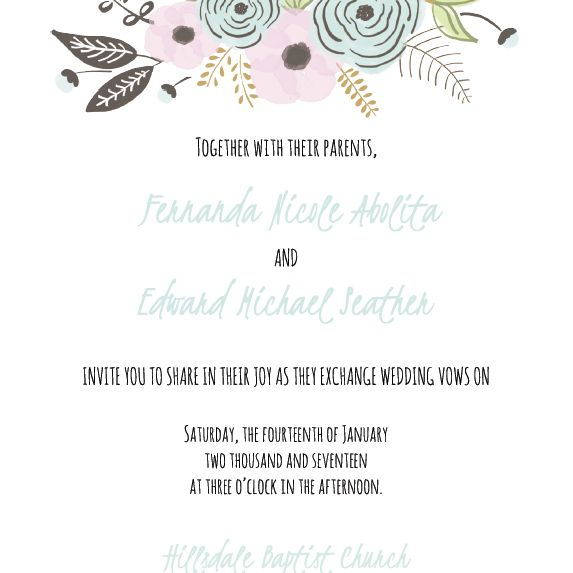 A Fl Wedding Invite Template Cards And Pockets