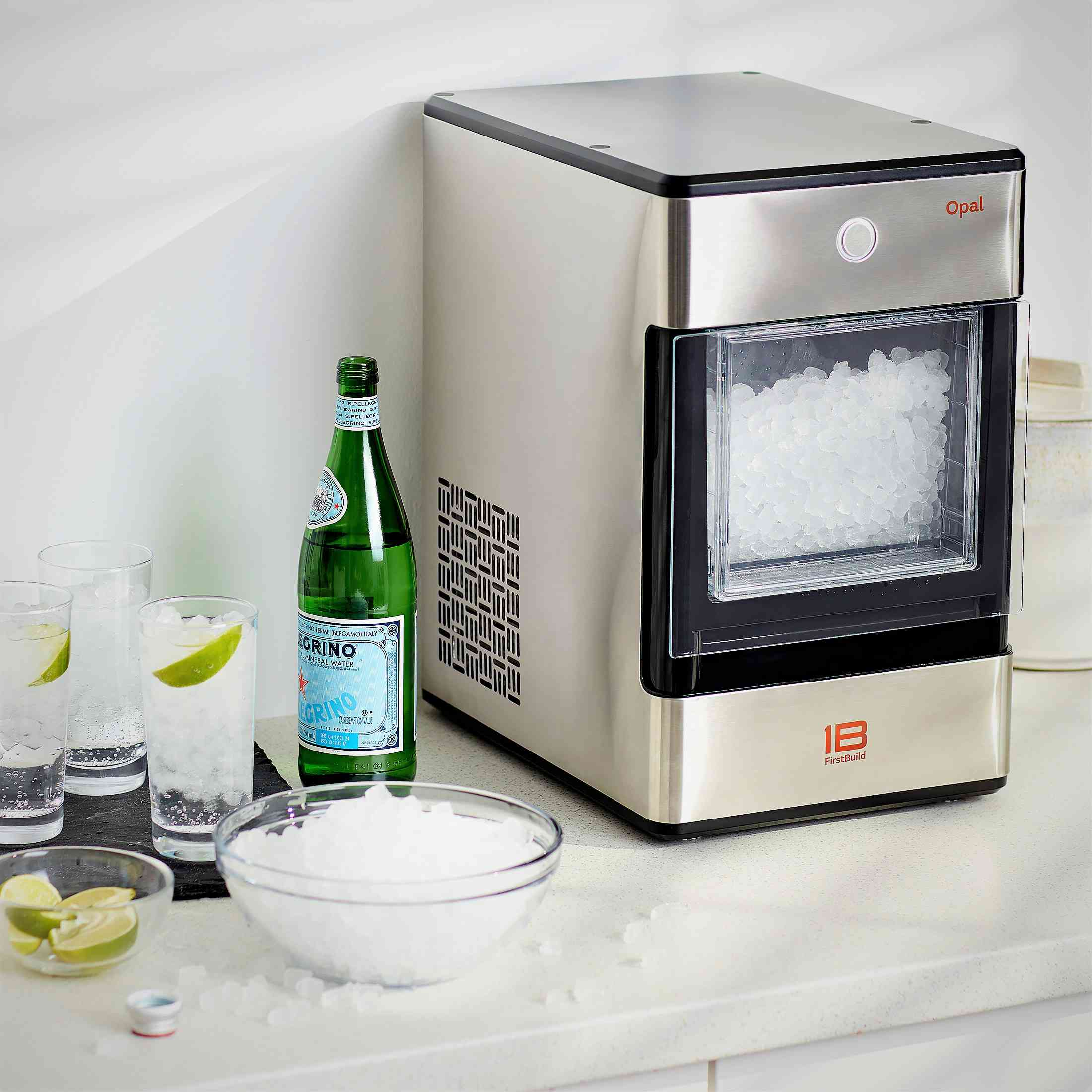 Opal Nugget Ice Maker, 24lb. Capacity Stainless Steel