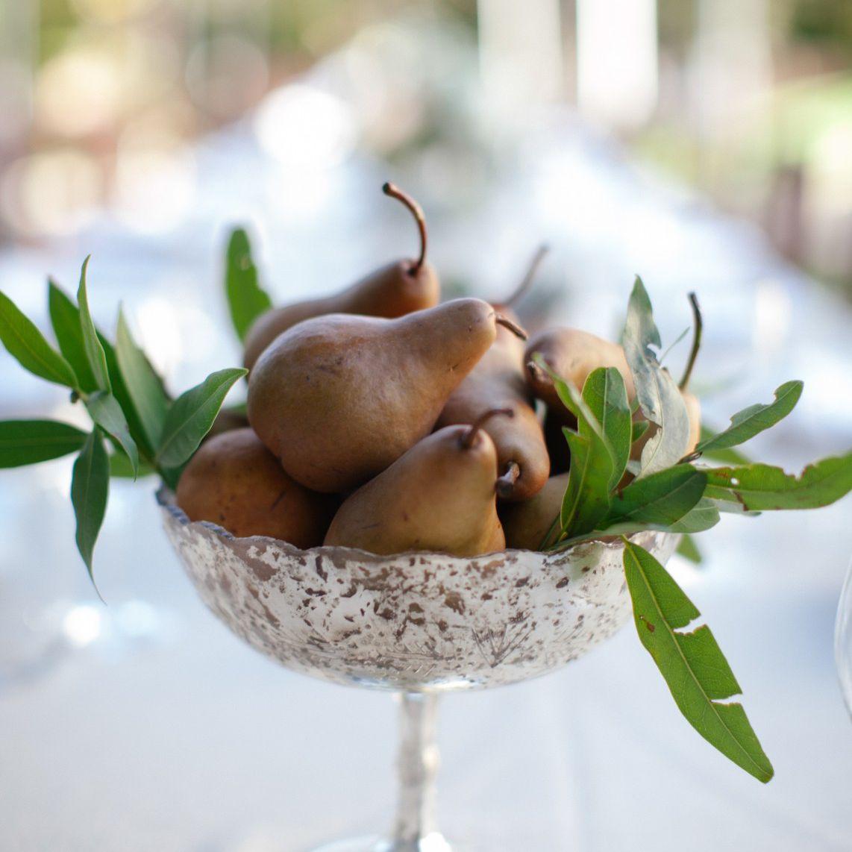 Pear Winter Wedding Centerpiece