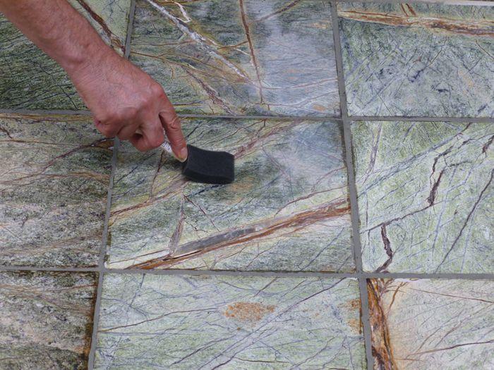 A brush sealing marble