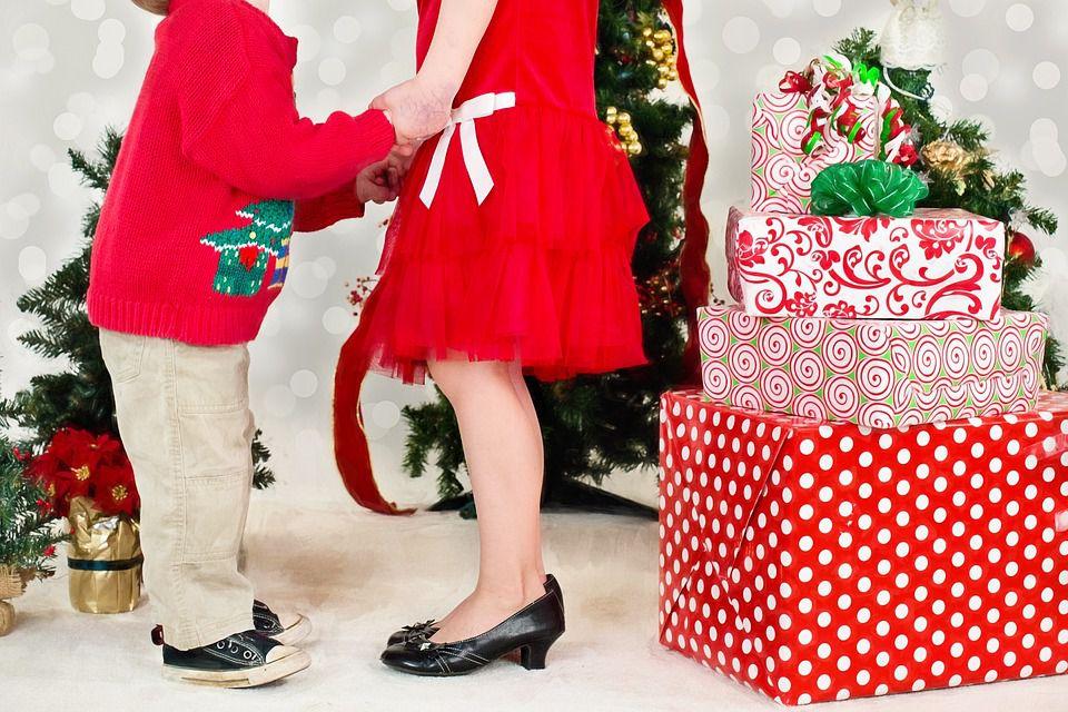 Kids at Christmas dancing.