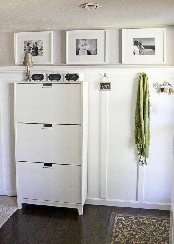 Entryway using Ikea shoe cabinet