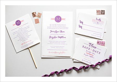 circle monogram printable wedding invitation
