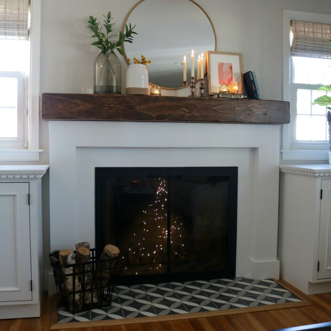 Fireplace Modernized Makeover After Makeover