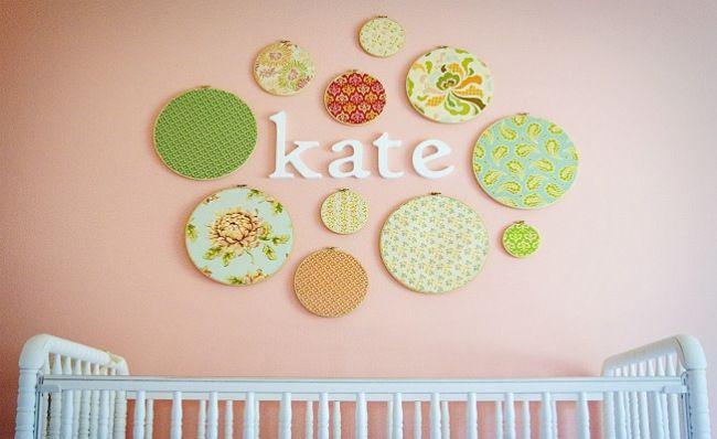 Diy Nursery Art Colorful Fabric Hoops