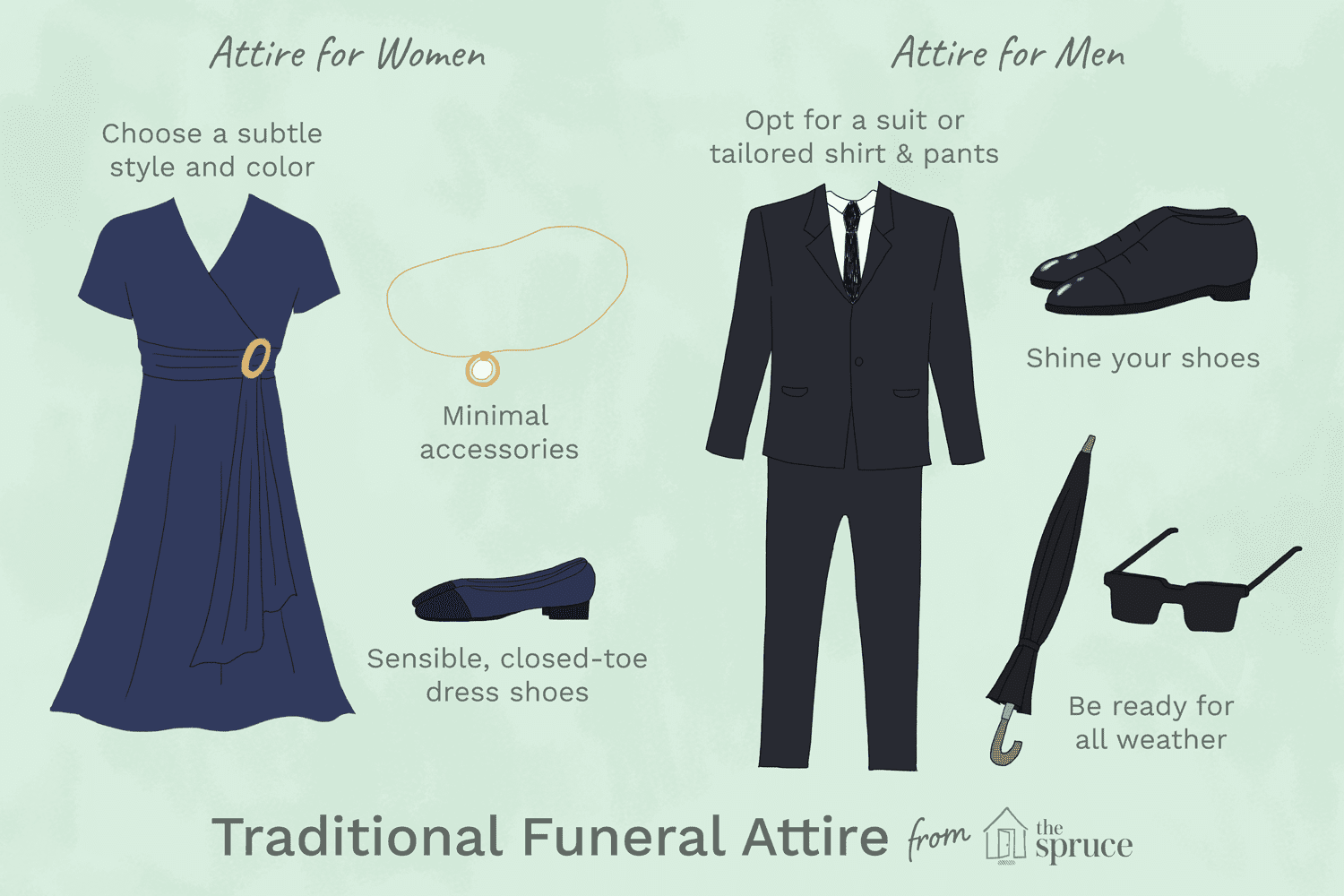 What is not appropriate funeral attire izmirmasajfo