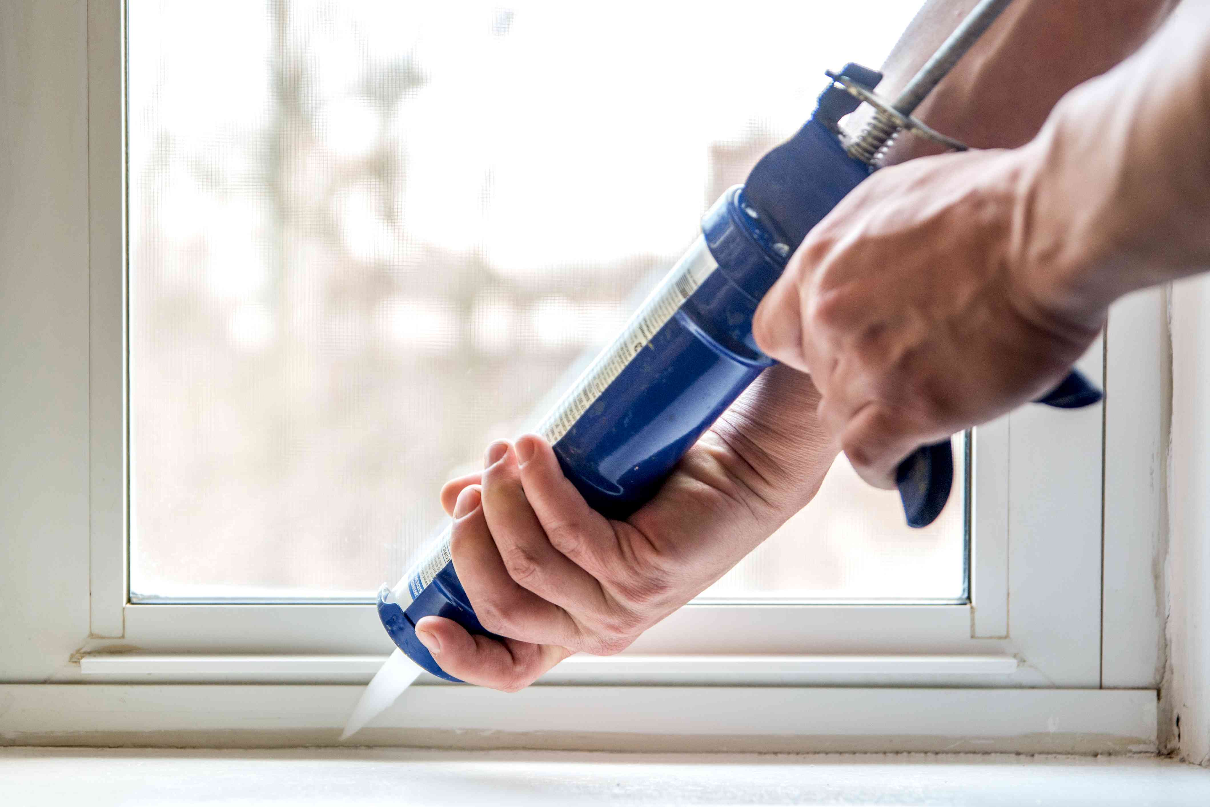 caulking windows to keep crickets out