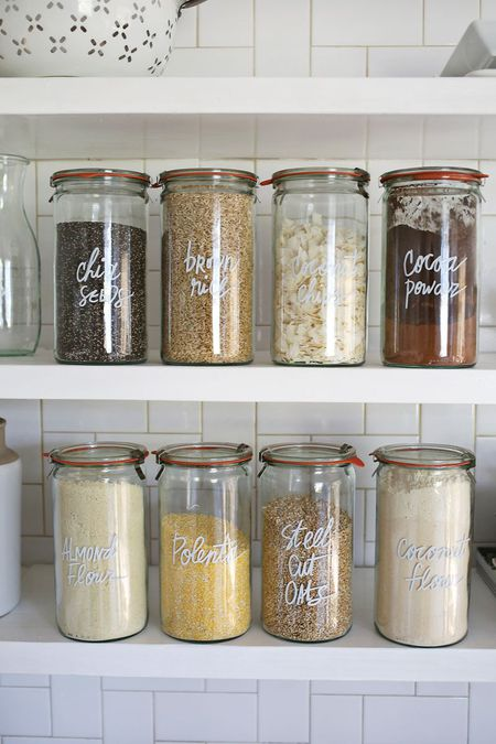 Use Clear Storage Containers Gl Jar Kitchen Organization