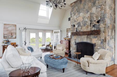 Bright Farmhouse Living Room