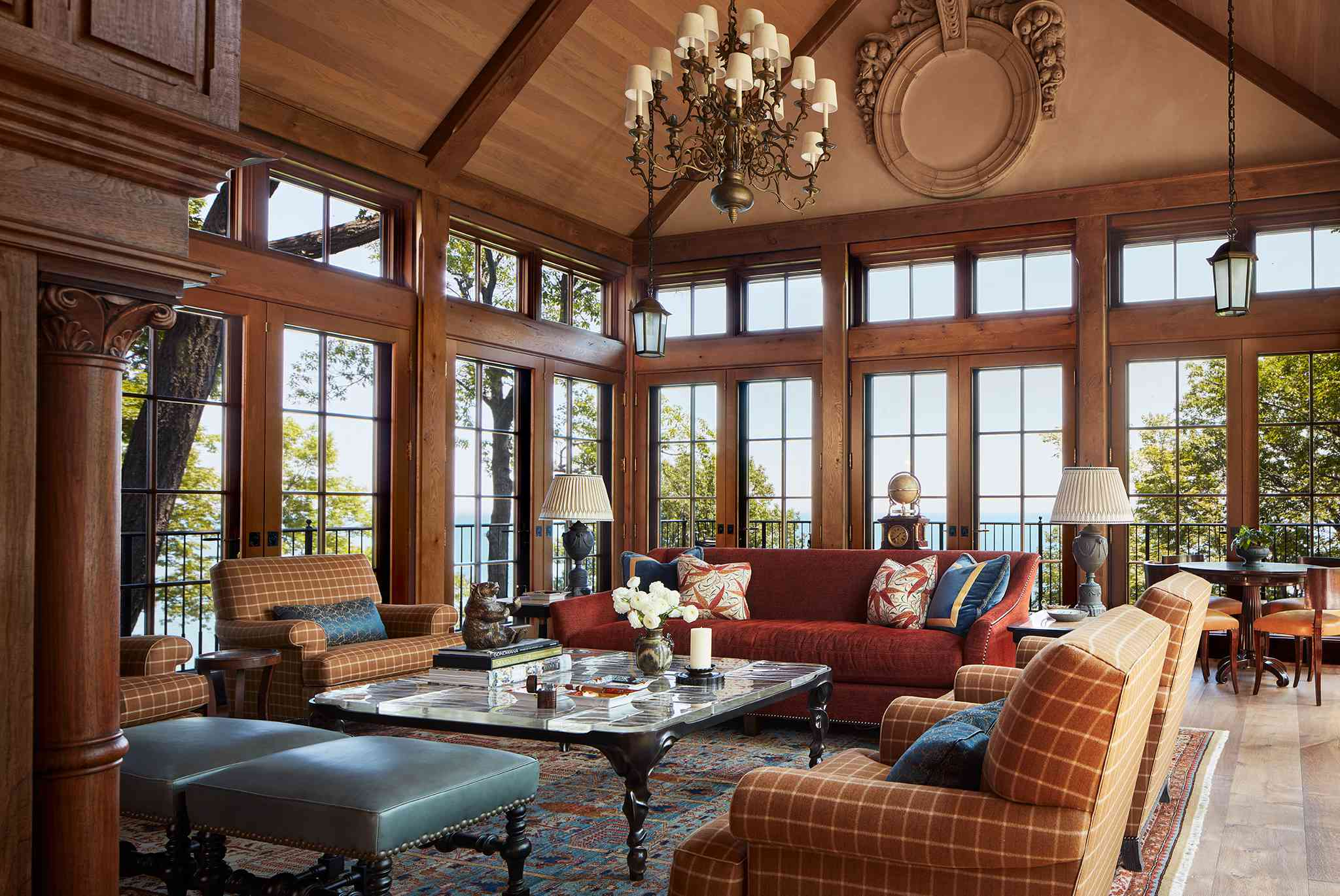 lodge like living room