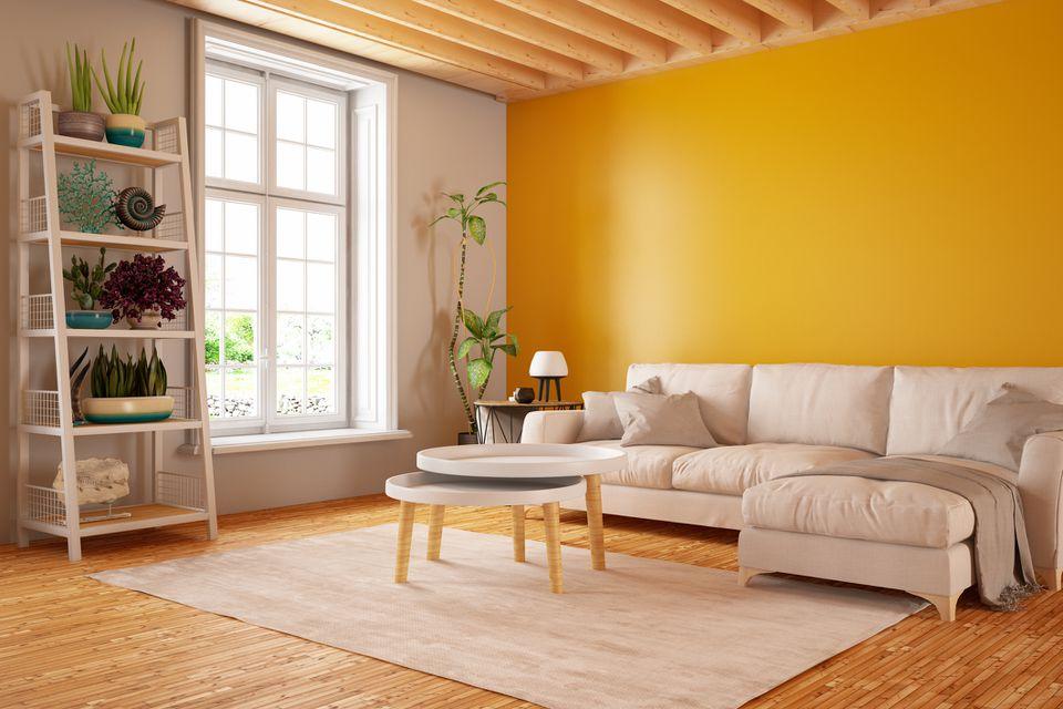 Eggshell Paint Sheen on Living Room Wall