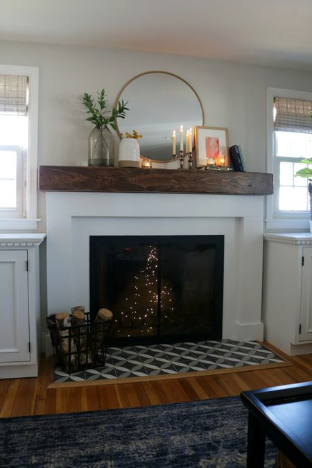 Fireplace Modernized Makeover After