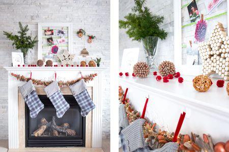 Christmas Mantel Decorations.34 Easy And Elegant Christmas Mantel Decoration Ideas