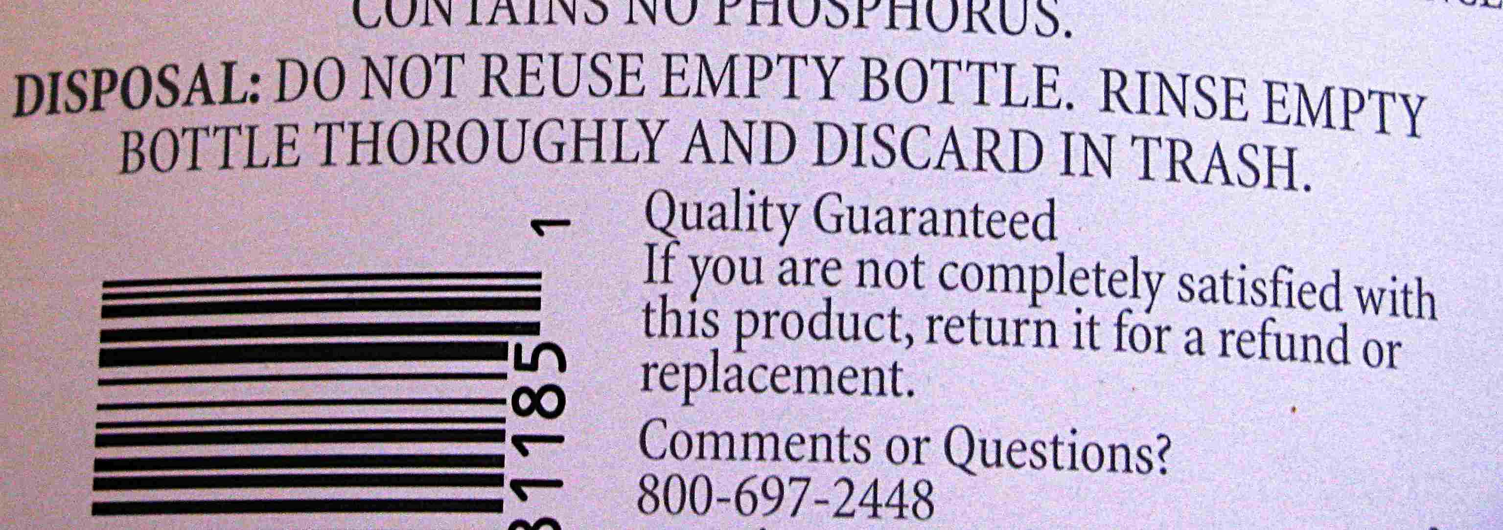 Etiquetas de limpieza: eliminación