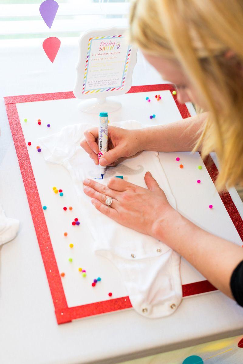 DIY Onesie Painting Station