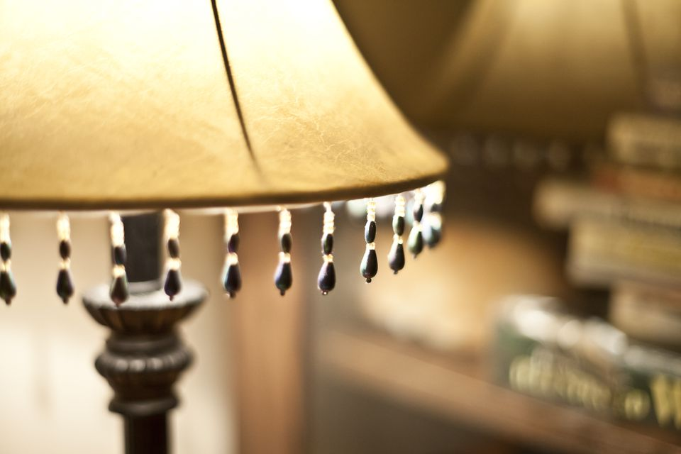 Close-up of illuminated lamp