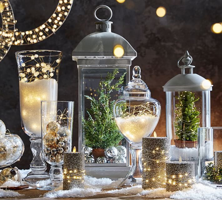 Clear glass sphere string lights