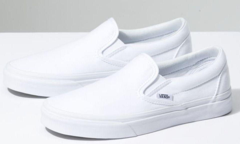 Pair of White Vans on white background