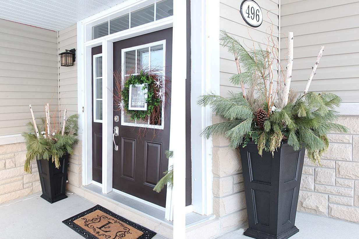 Modern winter porch