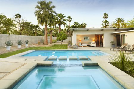 Rectangular Pool Designs And Shapes Adorable House With Swimming Pool Design