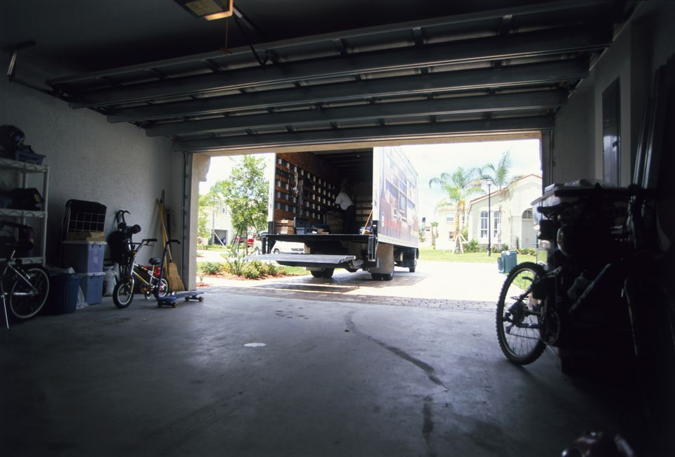 Garage Interior with Cracked Slab