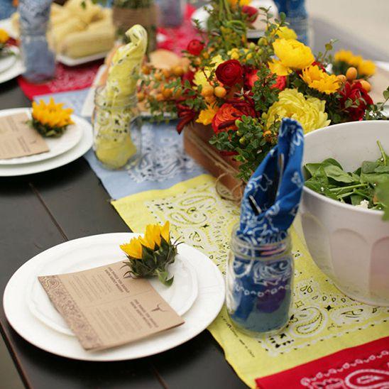 Bandana Table Setting