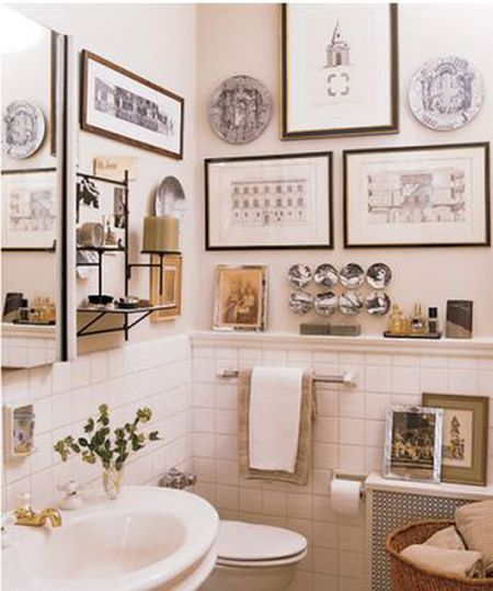 9 Ways To Display Art In Your Bathroom