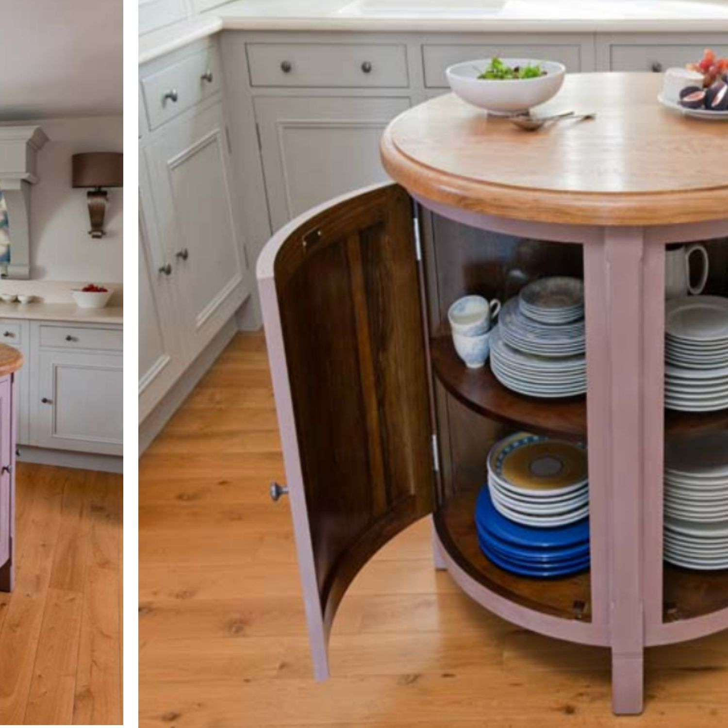 Small, Circular, Movable Kitchen Island/Table