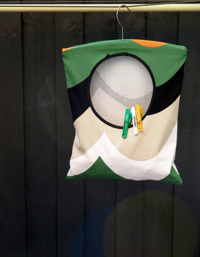 DIY Hanging Clothespin Bag