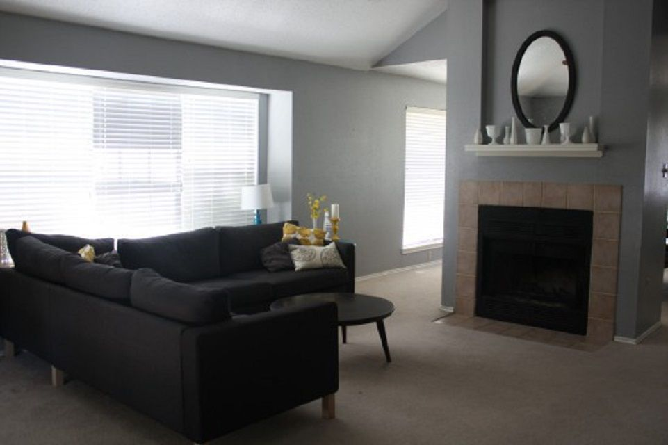 Drab Fireplace Before Makeover