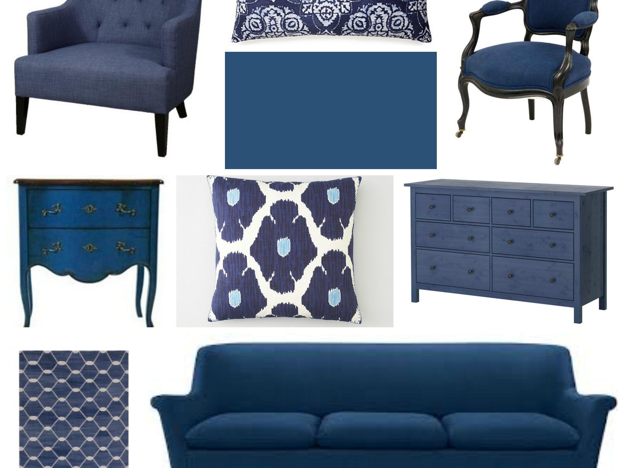 Home Decorating With Indigo Blue