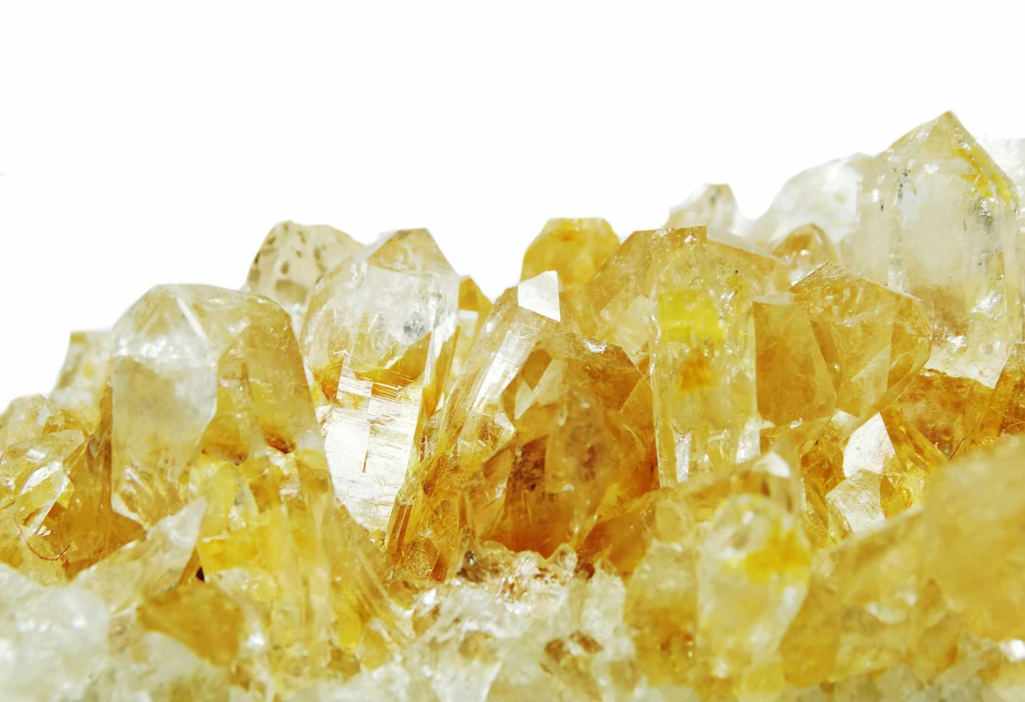 primer plano de cristal citrino