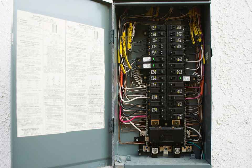 How to Install a 240-Volt Circuit Breaker Breaker Box Wiring on