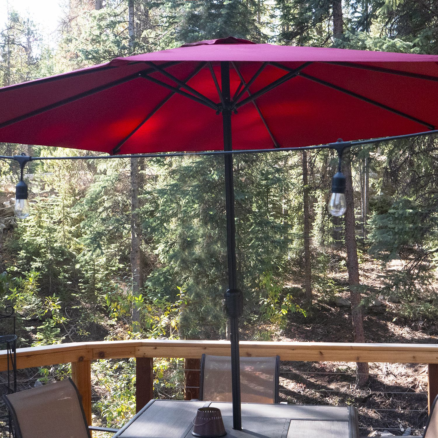 Simple Kitchen Design For Small House Kitchen: Pure Garden Aluminum Patio Umbrella Review: Simple And