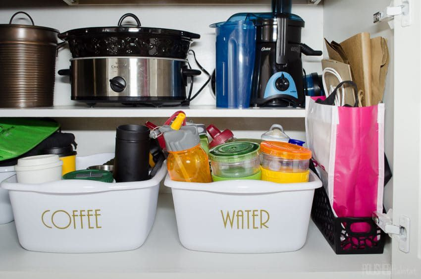 Label your coffee and water bottles