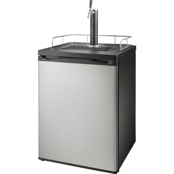 Insignia 5.6 Cu. Ft. 1-Tap Beverage Cooler Kegerator - Stainless steel