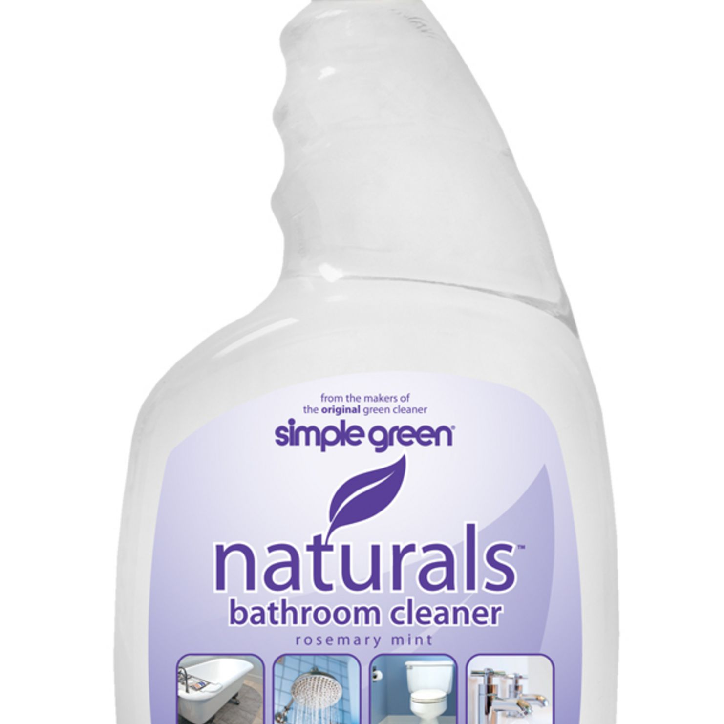 A bottle of Simple Green Naturals Bathroom Cleaner