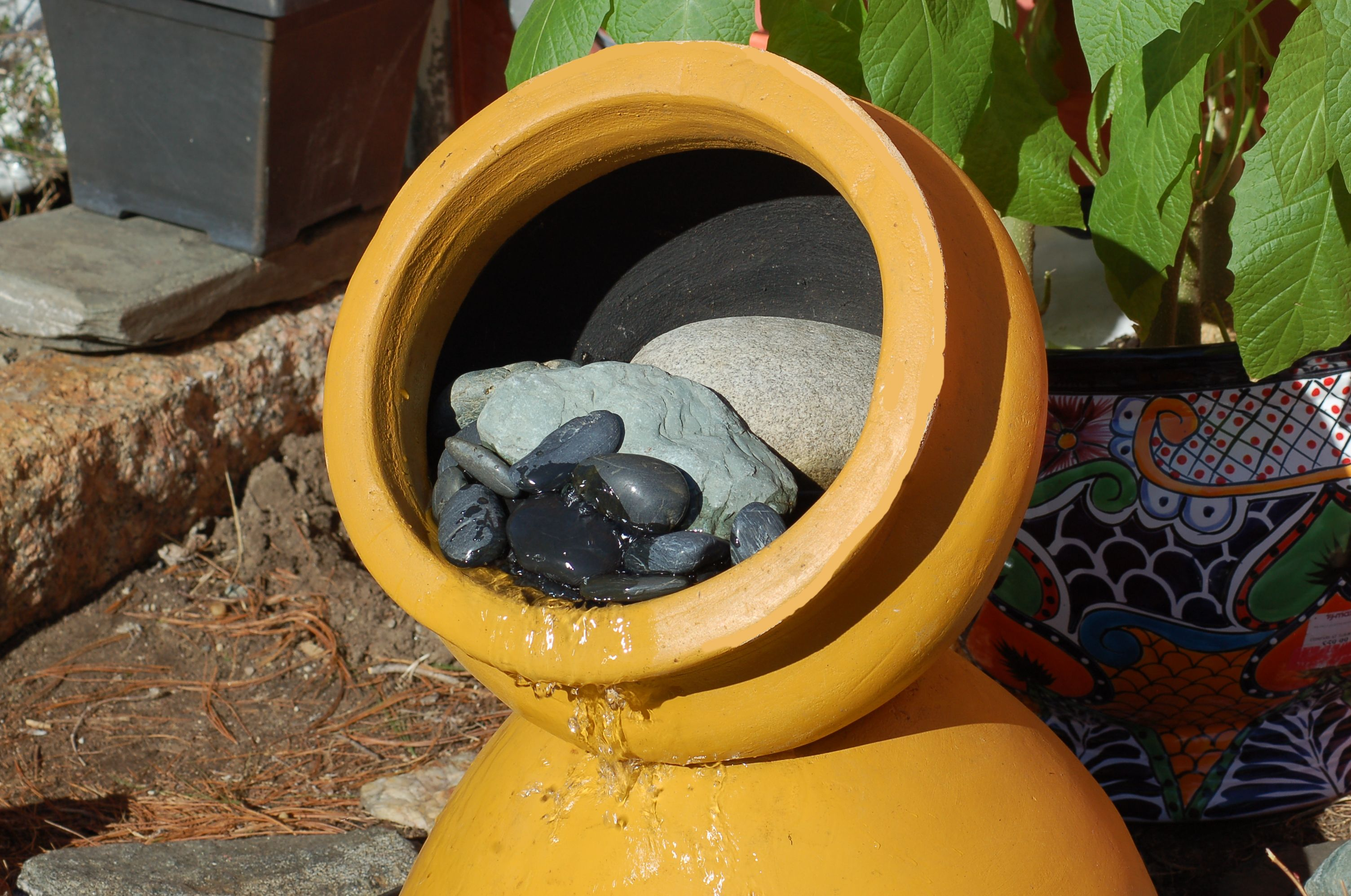 How To Make Clay Pot Fountains 2 Tiered